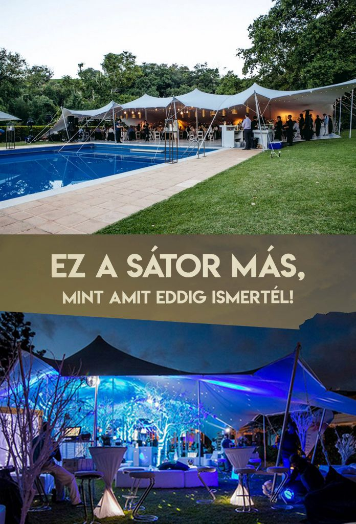Esküvősátor vagy hangulatos partysátor minden stílusú szabadtéri rendezvényre, éttermek és bárok esztétikus, tartós és biztonságos terasz fedése.